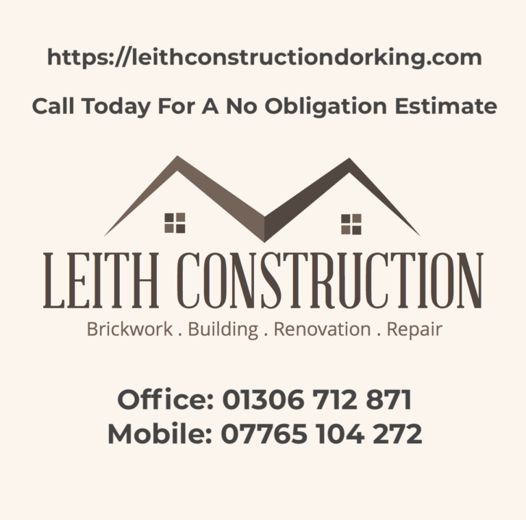 Builder Landscaper Leith Construction Dorking Horsahm Surrey West Sussex Geographical - Where we work - Areas Covered - Repair and Refurbishment Services - Builder and Bricklayer in Horsham